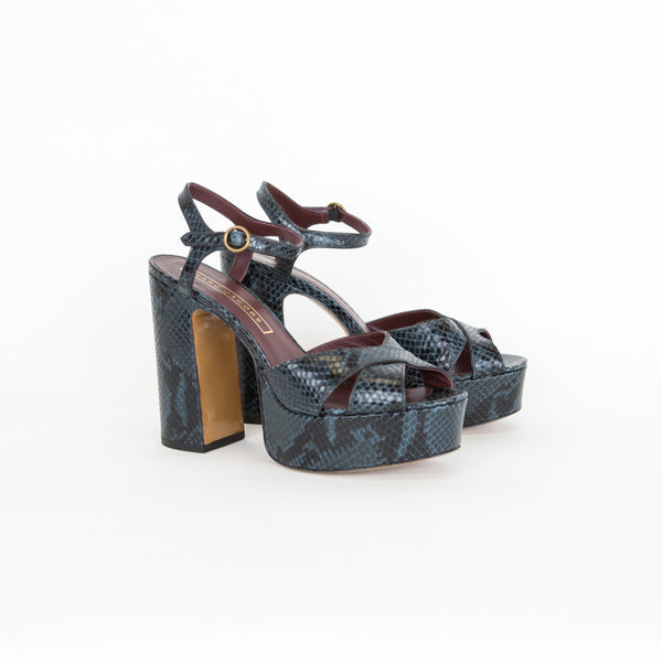 Marc Jacobs | Navy Embossed Platfom Sandals