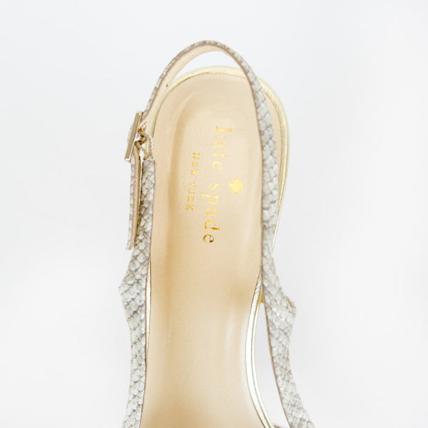 Kate Spade | Embossed Slingback Pumps