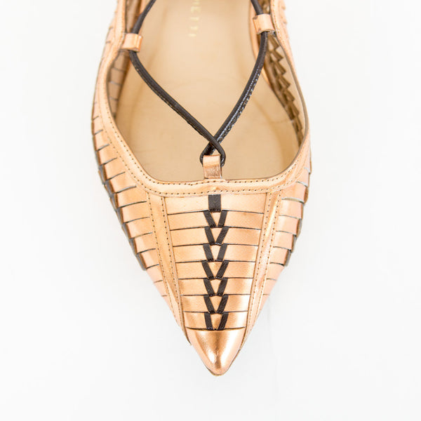Daniele Michetti | Copper Lace-up Flats