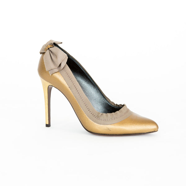 Lanvin | Gold High Heel Pumps