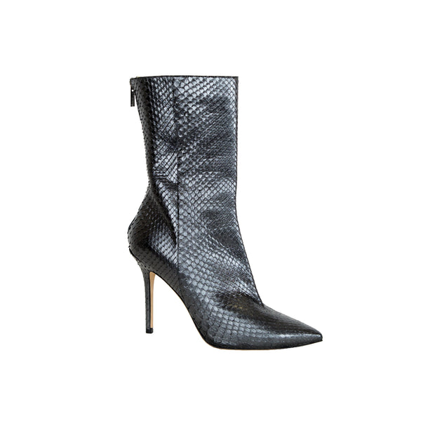 Jimmy Choo | LEAF Metallic Python Booties