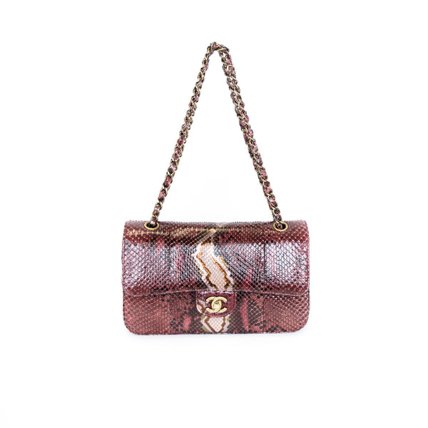 Chanel | Metallic Red Snakeskin Handbag