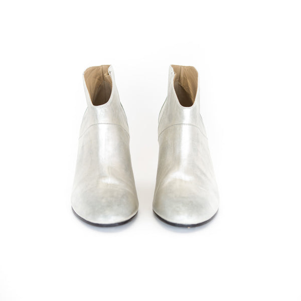 Golden Goose | Silver Leather Ankle Boots