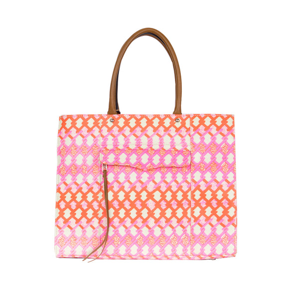 Rebecca Minkoff | Orange and Pink M.A.B. Tote Bag