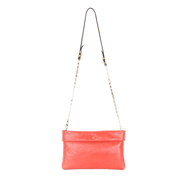 Trina Turk | Coral Leather Crossbody