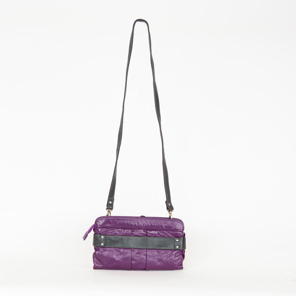 Chloe | Purple Leather Crossbody