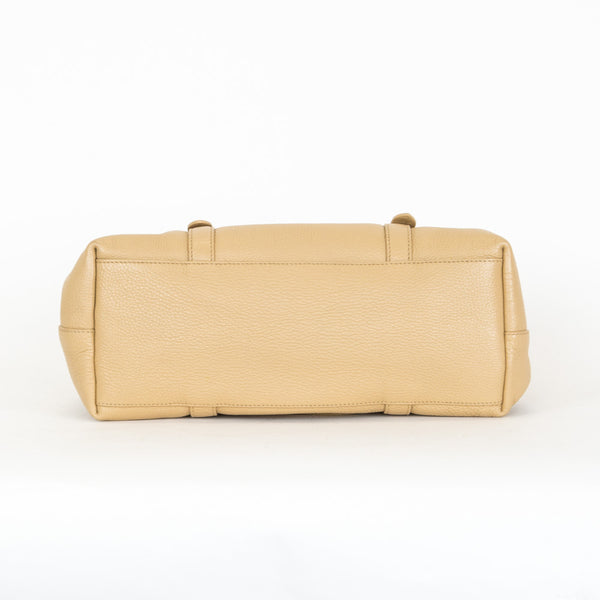 Prada | Neutral Leather Shoulder Handbag