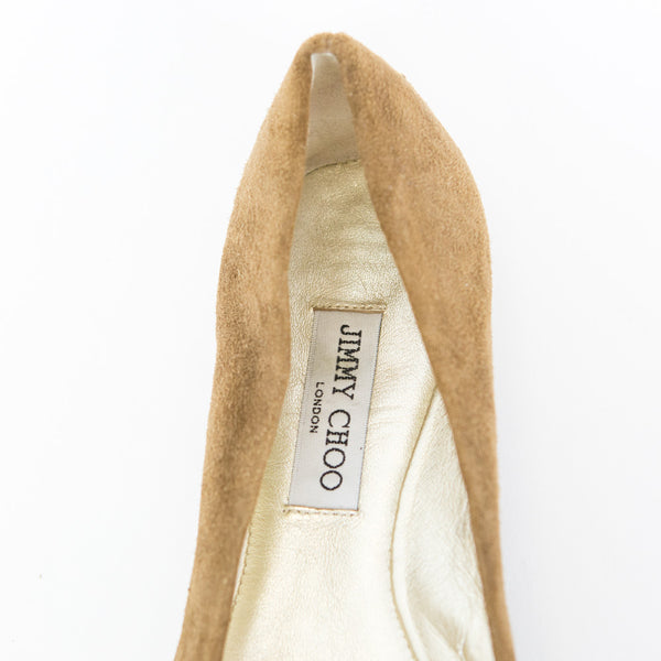 Jimmy Choo | Brown Suede Flats