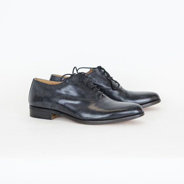 Maison Martin Margiela | Charcoal Leather Oxfords