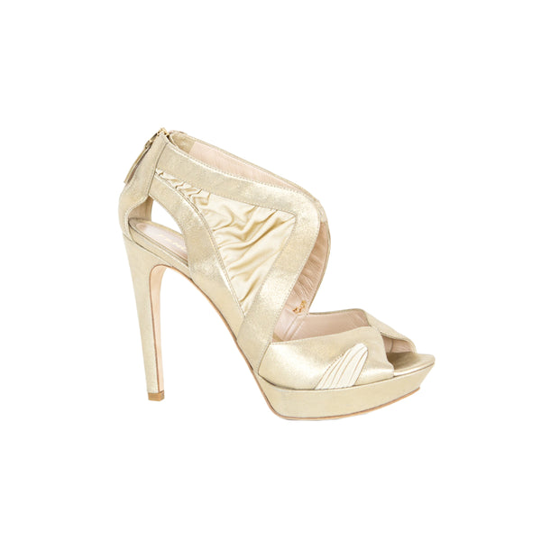 Fendi | Gold Shimmer High Heels