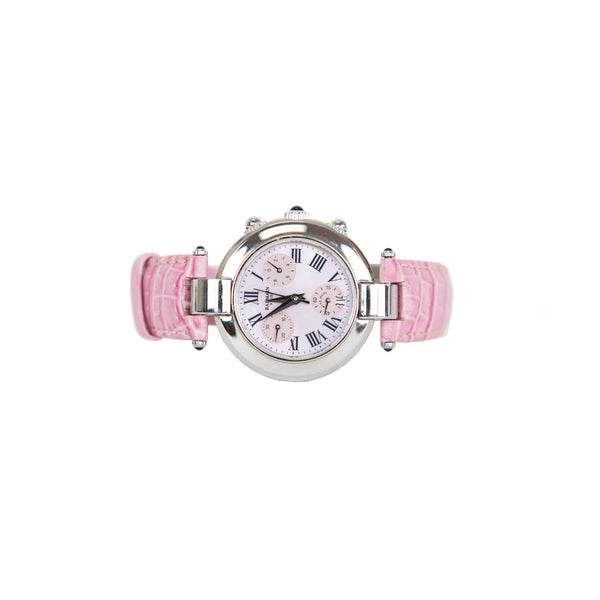 Balmain | Pink and Silver Leather Watch