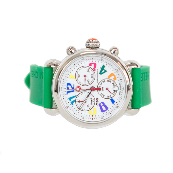 Michele Watch | Green CSX 36 Carousel Watch