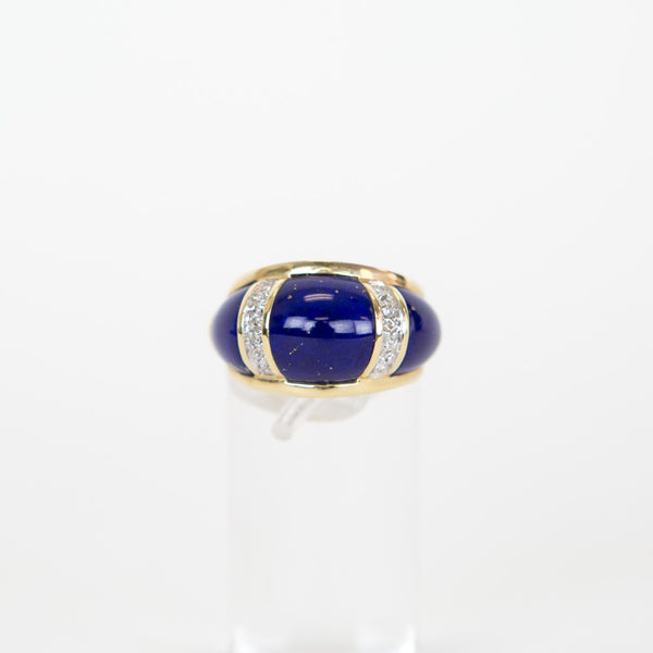 Lapis with 14K Gold Band Ring