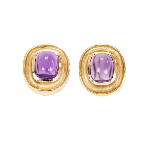J Loggins | Gold Amethyst Earrings