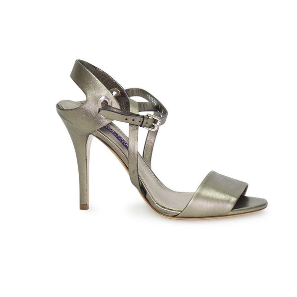 Ralph Lauren | Pewter Leather Heels