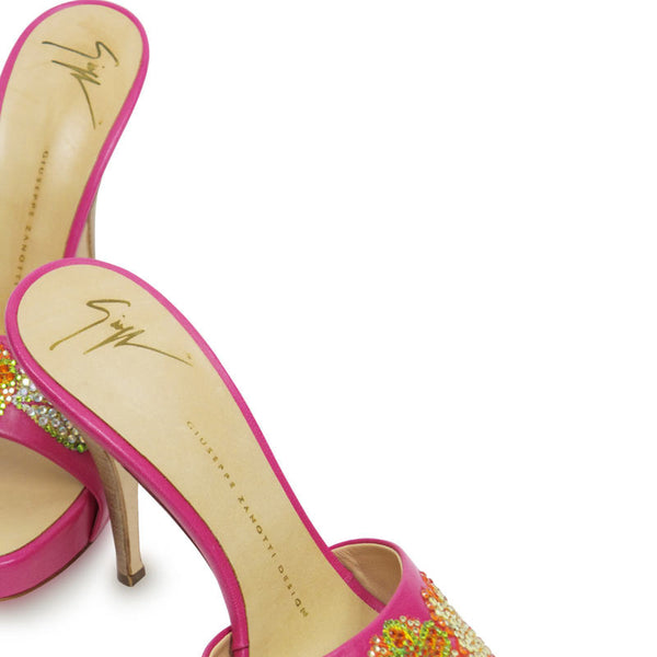 Giuseppe Zanetti Pink Heels with Signature logo