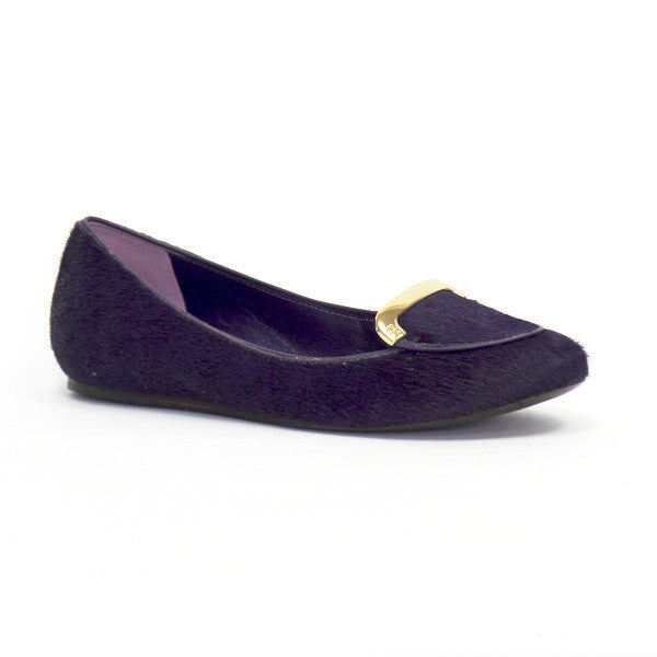 Tory Burch Purple Calf Hair Flats