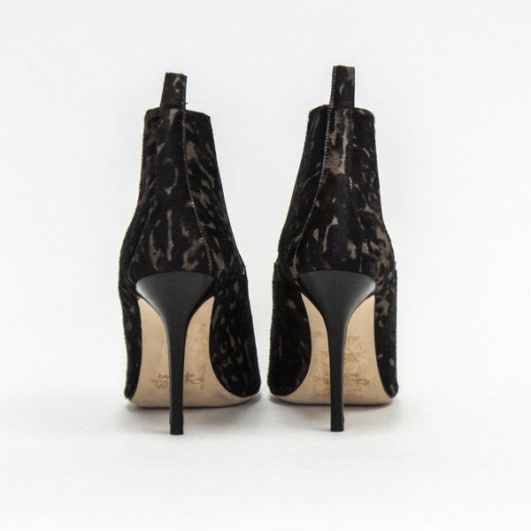 Oscar De La Renta Pony Hair Booties with pull tabs