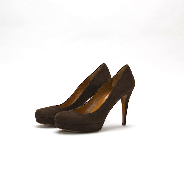 Gucci Brown Suede Pumps
