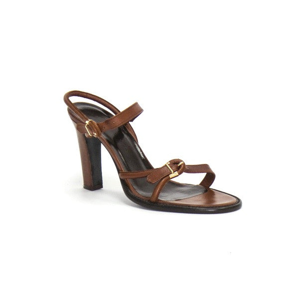Bottega Veneta Brown Leather High Heels