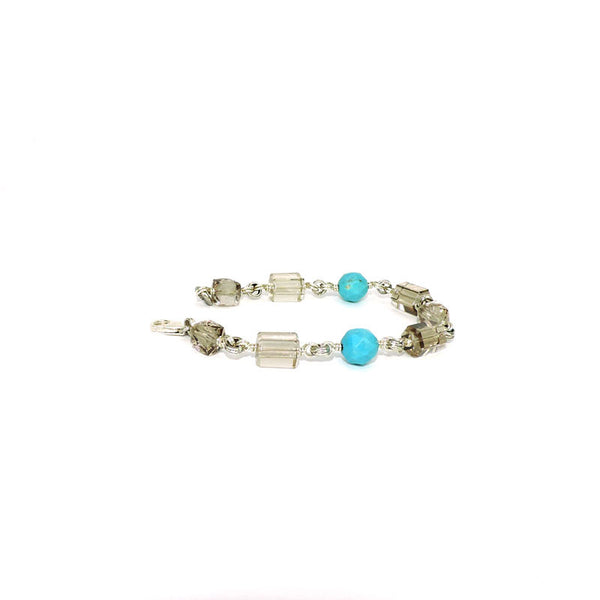 Stephen Dweck Turquoise & Quartz Beaded Bracelet