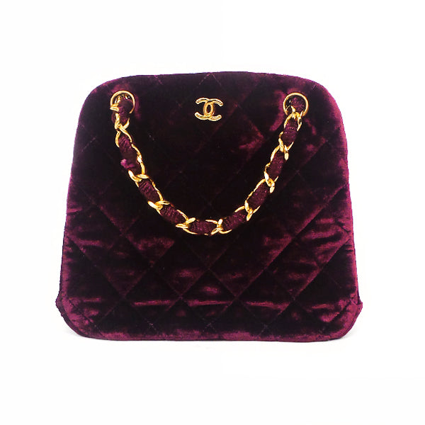 Chanel | Plum Velvet Evening Bag