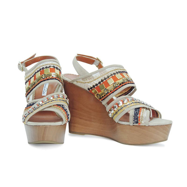 Oscar De La Renta | Wedges With Multi Colored