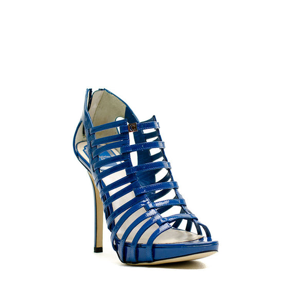 Christian Dior Blue Caged Heels With Platform