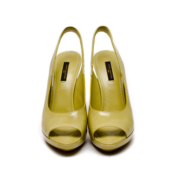 Louis Vuitton Light Olive Almond Peep Toe