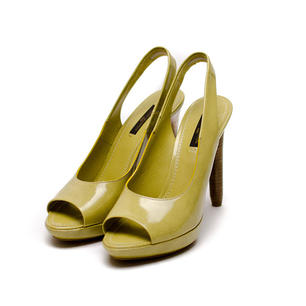Louis Vuitton Light Olive Signature Designer Pumps