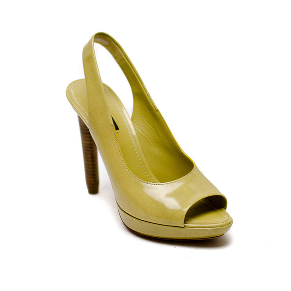 Louis Vuitton Light Olive Slingback Pumps