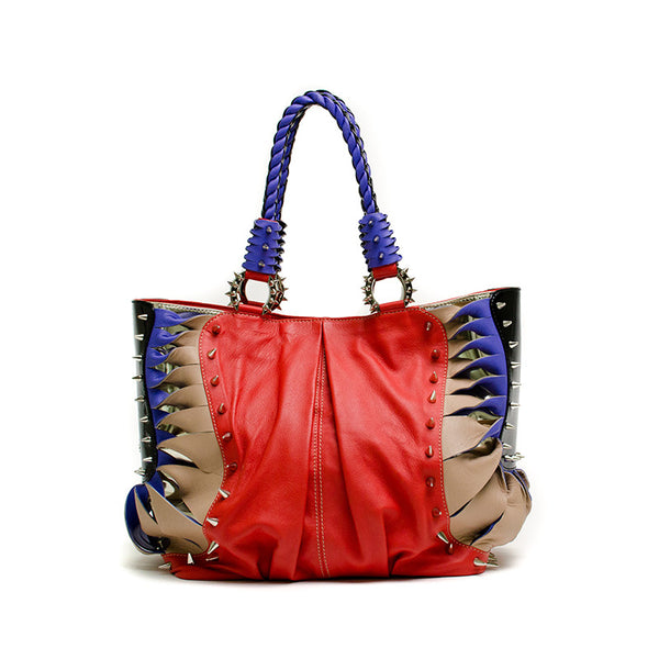 Christian Louboutin multi-color studded handbag.