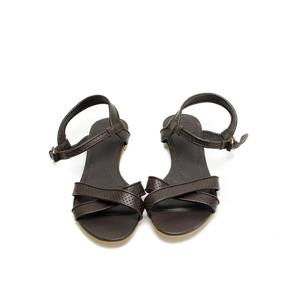 Givenchy Brown Leather Sandals Ankle straps