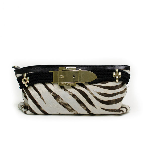 Jimmy Choo Zebra Print Clutch