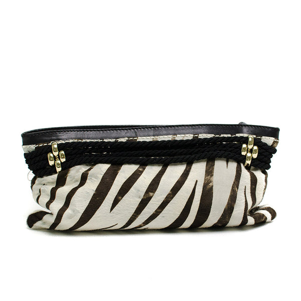 Jimmy Choo Zebra Print Clutch Back View