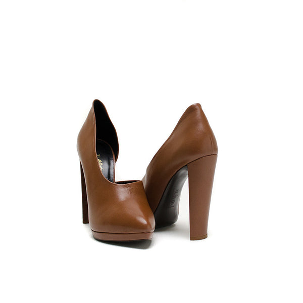 Phillip Lim Brown block cone heel