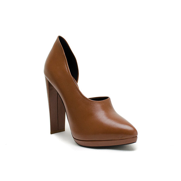 Phillip Lim Brown Leather Bootie Heels