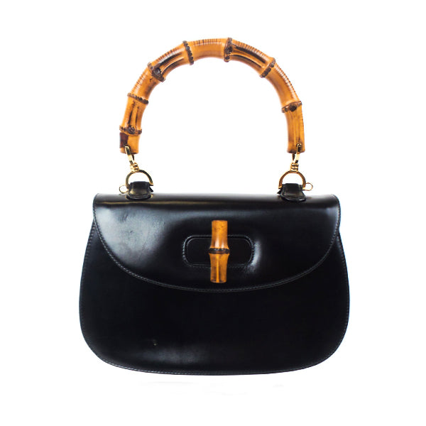 Gucci | Black Bamboo Top Handle Handbag