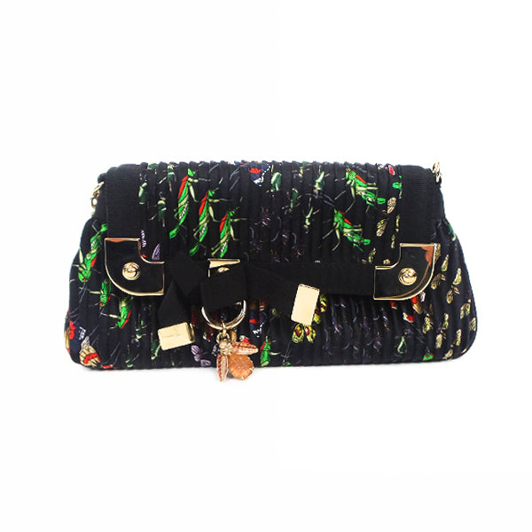Gucci | Pleated Silk Insect Pochette