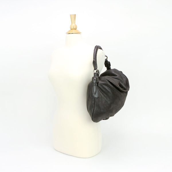 Brown Leather Hobo Handbag Jil Sander, pre-owned