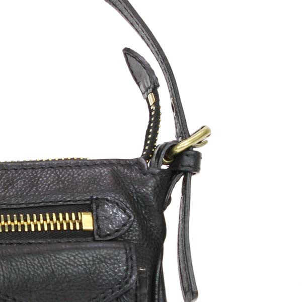 Marc Jacobs Black Leather Handbag with Single Strap