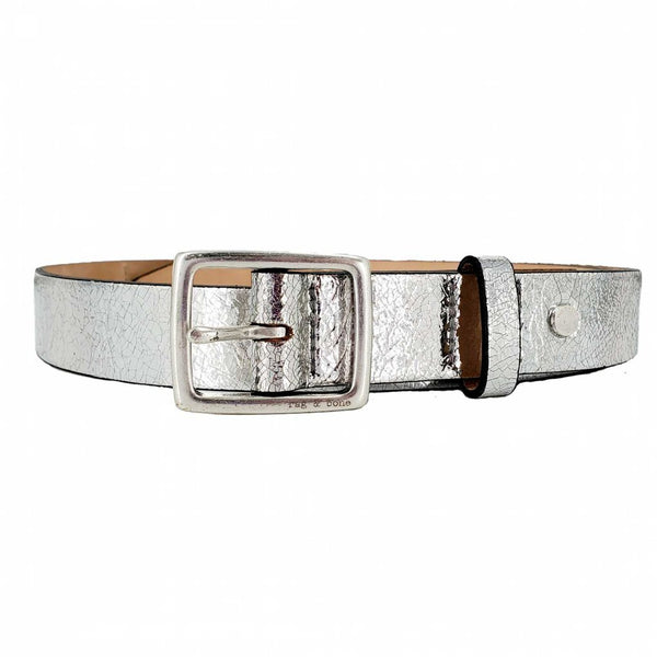 Rag & Bone | Silver Leather Belt