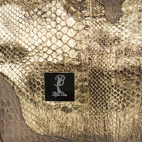 Bijou One | Gold And Bronze Alligator Tote