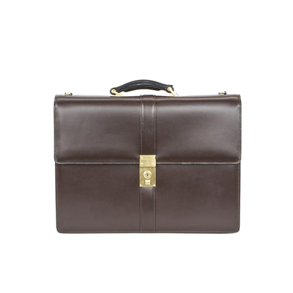 Mark Cross | Brown Leather Briefcase