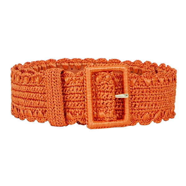 Dolce & Gabbana | Orange Runway Raffia Belt