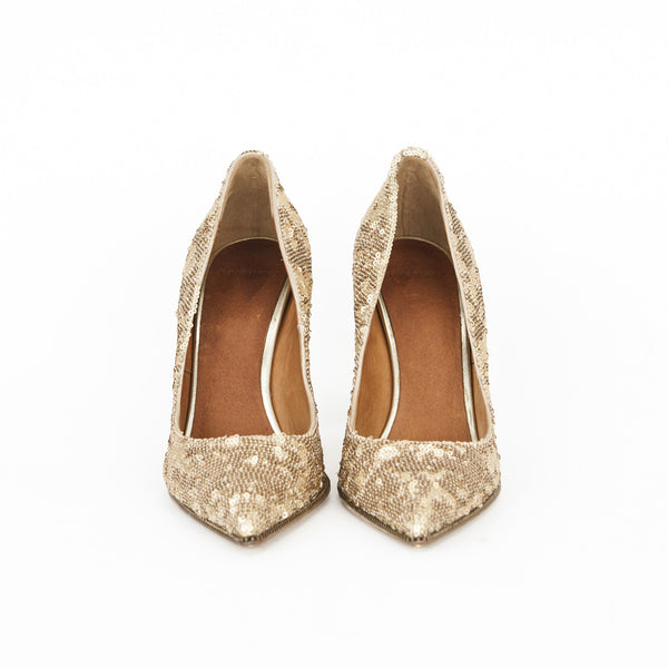 Givenchy gold sequin pumps size 8.5