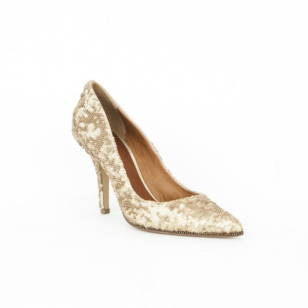 Givenchy gold sequin pumps