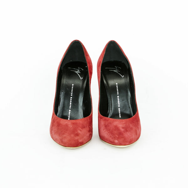 Giuseppe red suede high heels made in Italy