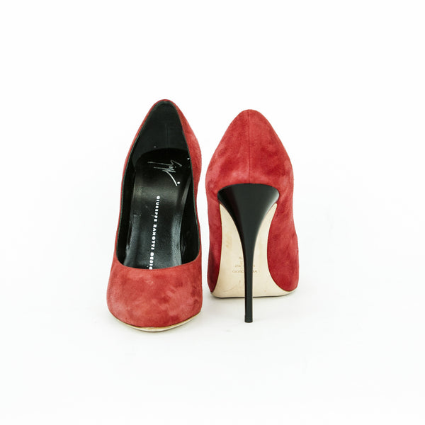Giuseppe red suede high heels size 8.5