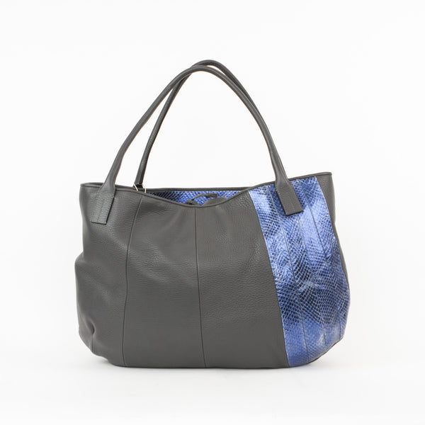 Golden Goose | Leather Gray Blue Tote